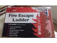 Bedroom fire escape ladders