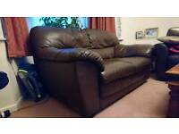 Sofa 2 seater brown leather