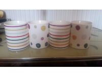 Set of 4 Patterned Mugs