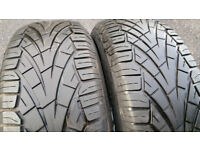 235 65 17 2 x tyres General Grabber UHP