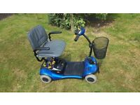 Sterling 4 wheeled mobility Scooter, blue
