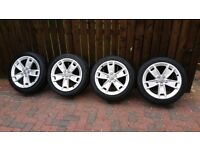 """4 x 17"""" genuine Audi alloy wheels and tyres"""