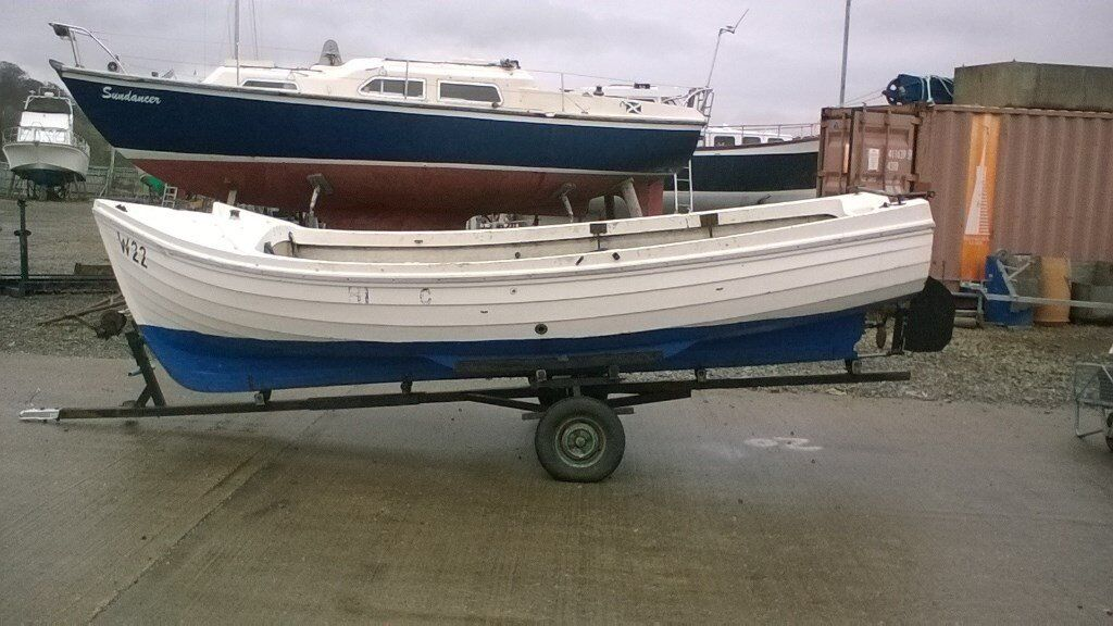 Fishing boat orkney arran diesel clinker boat inboard for How inboard boat motors work