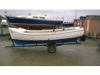 Fishing Boat,Orkney,Arran,Diesel,Clinker,Boat,inboard,engine,lock,sea,river,16,17,ft,outboard