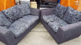 Two fabric sofas. FREE delivery in Derby