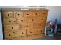 Soild wood big set of drawers
