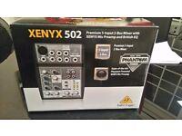 Behringer xenyx 502 mic preamp