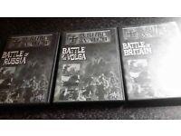 world war 2 3 dvds battle of russia battle of volga battle of britain good condition