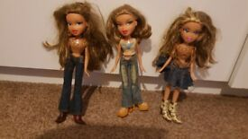 3 country Bratz dolls- Yasmin Raya Megan