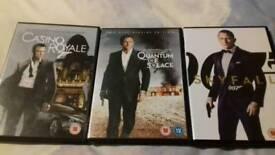 James Bond Daniel Craig trilogy dvds