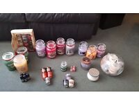 YANKEE CANDLES - REDUCED - LOTS FOR SALE - LIST AND PRICES BELOW