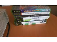 X box with games and controller