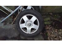 Alloy Wheels x 4 size 195/65R15 VW