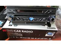 "New Car Stereo Radio DVD with 7"" flip out touchscreen."