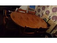 Wooden table & 5 chairs