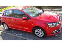 Vw Polo 1.0 2015 (15) Red Manual 5 Door Hatchback