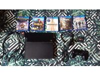 PS4 500gb black with controller, games and accessories BUNDLE