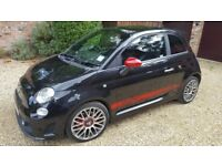 Black Abarth 500, Black Leather Seats, Upgraded Exhaust, 16inch Wheels