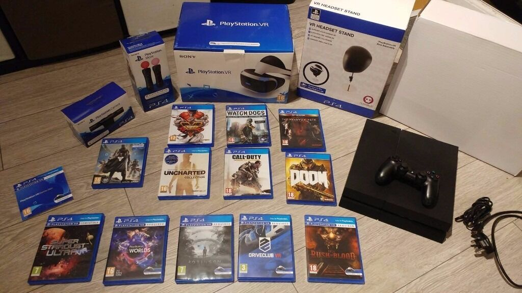 Playstation 4 console 1TB, PS VR Virtual Headset, Camera, PS4 PSVR ...