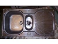 Franke stainless steel kitchen sink with non scratch surface good condition
