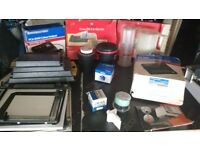 Full Dark room film set up, Enlarger, Trays etc, all you need to process and print colour or B&W