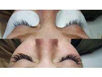Classic eyelash extensions- full set £35, infills £25