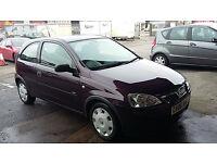 Vauxhall Corsa 998CC Purple/Plum 2006 Very Low Genuine Mileage