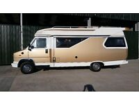 Fiat Ducato Hobby 600 camper. Retro cool van in great condition