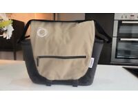 BUGABOO DARK GREY & SAND NAPPY / CHANGING BAG