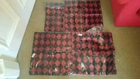 lot of 5 red and black patterned cushion covers all brand new in packets
