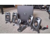 Logitech 5.1 surround sound speakers THX certified with sub woofer