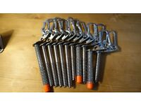 11 Black Diamond Express Ice Screws various sizes