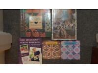 5 Sewing Books:quilting, soft furnishings, patchwork & workbook