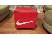 Vintage Retro Storage Box Seat Ottoman Blanket Box Nike Shoe box Upcycled Bedside Table