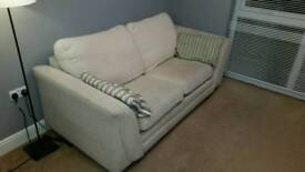 Cream double sofa bed