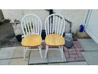 Wooden Chairs White £30
