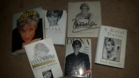 Selection of 6 Princess Diana Books