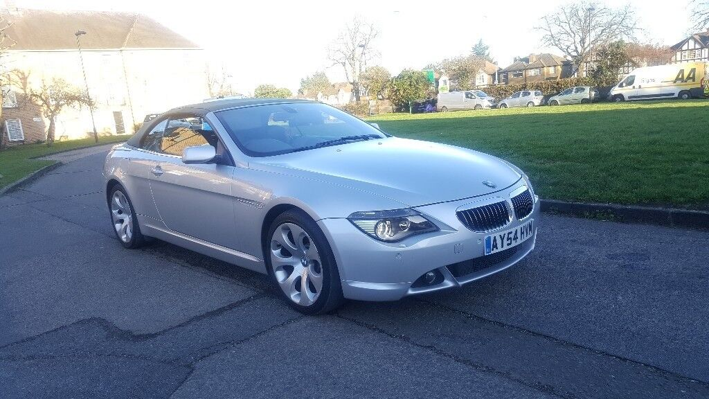 BMW 645CI SPORT CONVERTIBLE AUTO, (54PLATE) 130K FSH TOP SEPC MINT CONDITION PX WELCOME