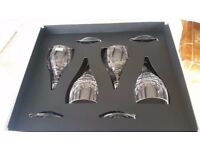 BRAND NEW ,GIFT BOXED ROYAL DOULTON 4 X RICHMOND CRYSTAL LARGE WINE GLASSES/ WEDDING OR ANNIVERSARY