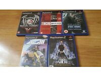 Job lot of play station 2 games
