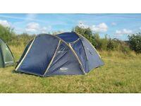 4 Man/Person Tent - Gelert Tornado 4. Hiking, Walking, Trekking, Festival.