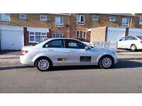 Mercedes Benz C200 Elegance, 12 Month Taxi MOT, Silver, 2.1L Engine, 1 Owner