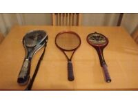 Squash, Badmintion and Tennis racket