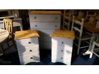 Matching Pine Chest of Drawers and Two Bedside Cabinets