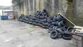 Scrap car tyres