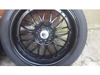 17 inch alloys and tyres multi fit