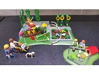 Playmobil Garden, Guinea Pigs Enclosure, and Family with Pushchair