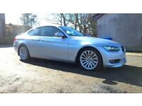 BMW 330d coupe rare MANUAL factory AREO bodykit black leather 73kmiles
