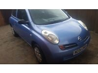 04 nissan micra s automatic f.s.history,very low miles excellent condition.