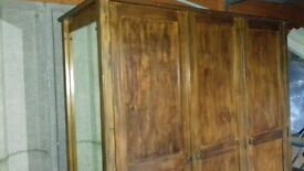 solid wood 3 door wardrobe